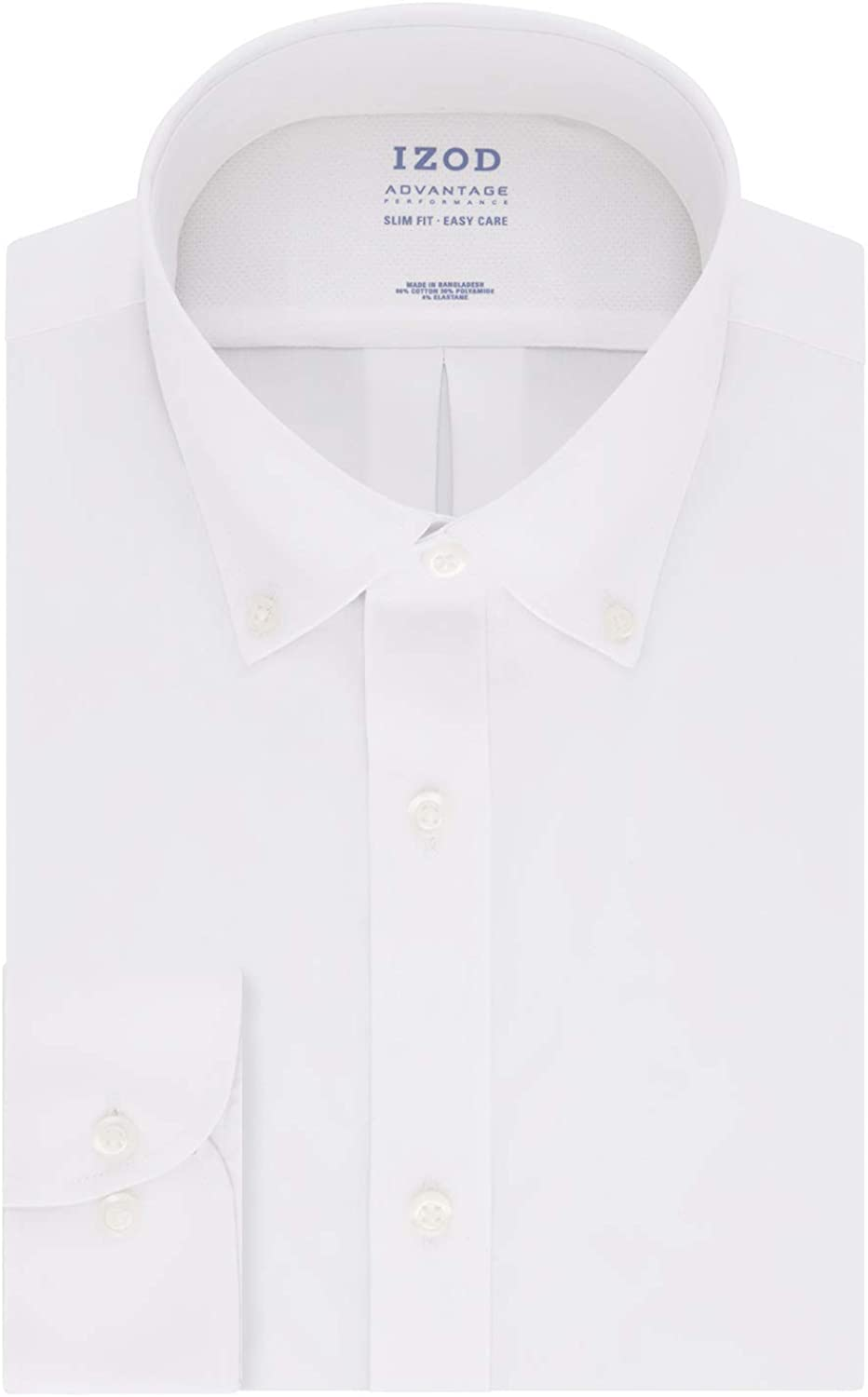 IZOD Men's Dress Shirt Slim Fit Stretch Cool FX Cooling Collar Solid