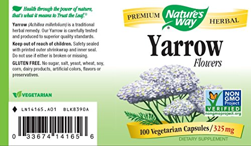 Nature's Way Yarrow Flowers 325 Mg, 100 Vcaps, 100 Count by Nature's Way (Image #3)
