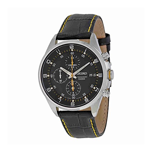 Seiko-SNDC89P2-Mens-Watch-Quartz-Chronograph-Black-Dial-Black-Leather-Strap