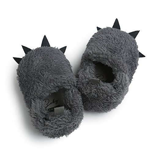 Moresave - Pantuflas Bebé-Niños gris oscuro