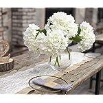 PARTY-JOY-5PCS-Artificial-Hydrangea-Silk-Flowers-Bouquet-Faux-Hydrangea-Stems-for-Wedding-Centerpieces-Home-Decor-White-5