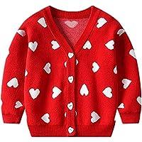 Carolilly - Jersey de manga larga para niña, diseño de corazón