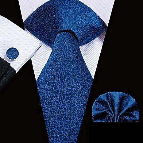 HYCZJH Blue Mens Ties 8.5cm Classic Mens Buisness Blue Tie Set ...