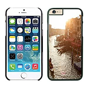 Apple Iphone 6 Case, Personalized Elegant Vience Italy Design Phone Case Cover for Iphone 6 4.7 Inch Screen, Beautiful Black Iphone 6 Hard Shell Cover