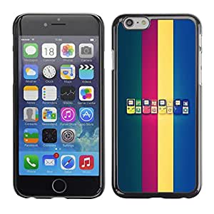 LECELL--Funda protectora / Cubierta / Piel For iPhone 6 -- Generaciones de Game Boy --