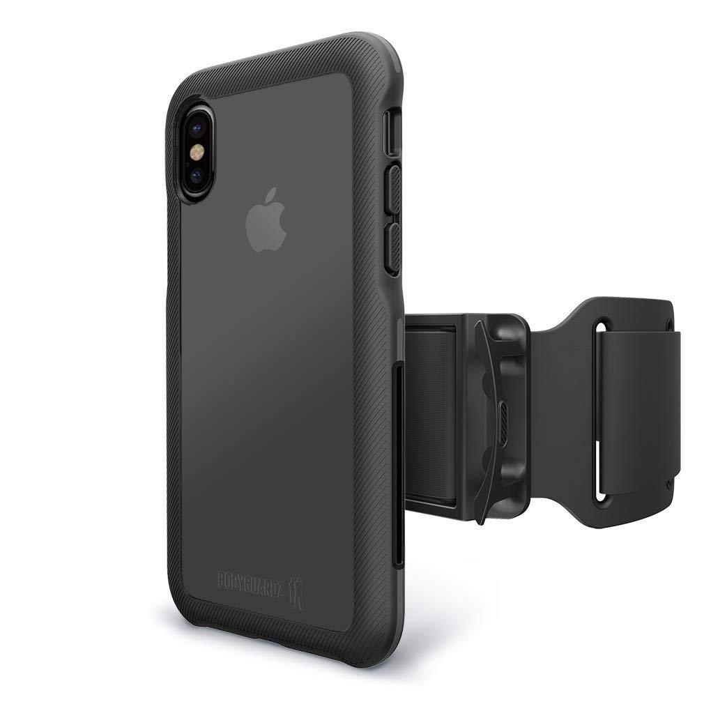 BodyGuardz Armband Case for Apple iPhone Xs Max - Black/Gray