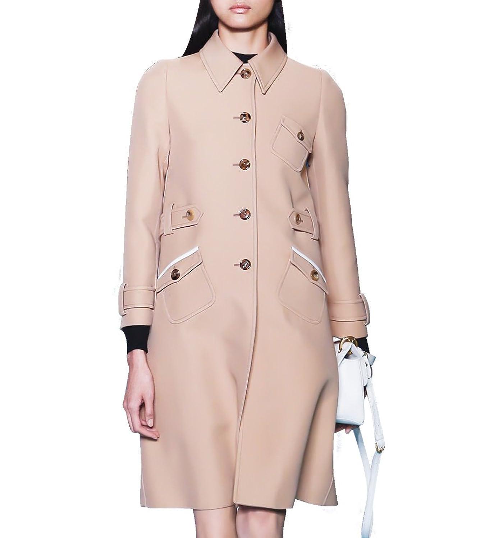 Hego Women's 2016 New Fashion Khaki Temperament Trench Coat H2986