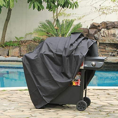DOOK Housse Barbecue Bâche Barbecue Protection Barbecue 190T Revêtement PU Imperméable Résistant à la Vent Pluie UV Poussière Déchirure 145 x 61 x 117cm