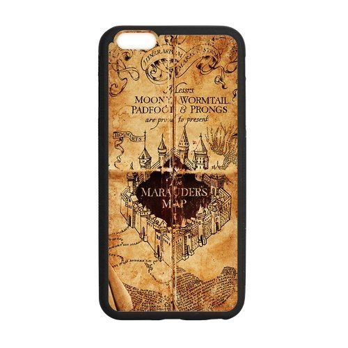 Custom Harry Potter Phone Case Cover Protection For iphone 6, TPU, 4.7 inch, Black / White