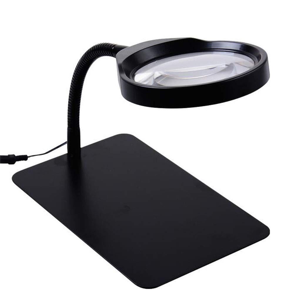 全ての ルーペ- 高精細HDを読み取る虫眼鏡 ルーペ- B07KLG5FZ4、テーブルランプ照明修復彫刻高齢者のデスクトップランプ - 黒 黒 B07KLG5FZ4, スワローキッチン:1e984d34 --- a0267596.xsph.ru