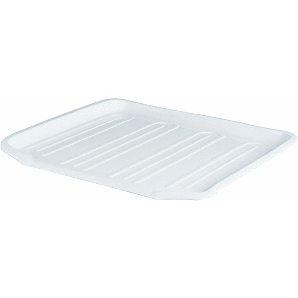 Rubbermaid 1180MAWHT White Dish Drainer Tray