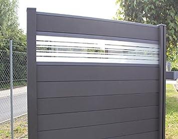 Favorit WPC / BPC Sichtschutzzaun dark grey 2 Zäune inkl. 3 Pfosten und VF59