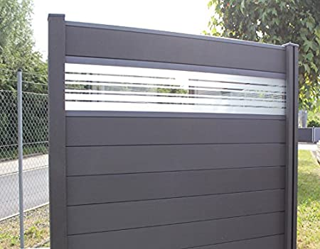 Wpc Bpc Privacy Screen Fence Including Posts And Glazing Garden