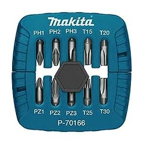 Makita P-70166 punta de destornillador - puntas de destornillador (Phillips, Pozidriv, Torx, PH1, PH2, PH3, PZ1, PZ2, PZ3, T15, T20, T25, T30)