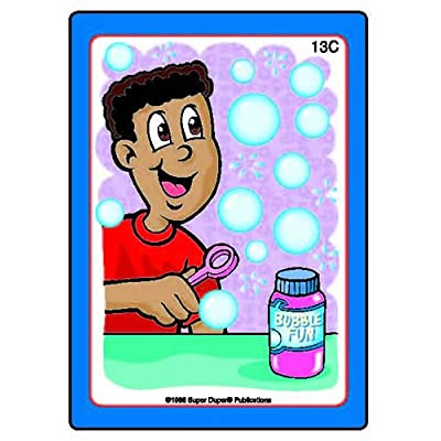 Super Duper Publications Sequencing Fun Deck Flash Cards Educational Resource for Children: Toys & Games