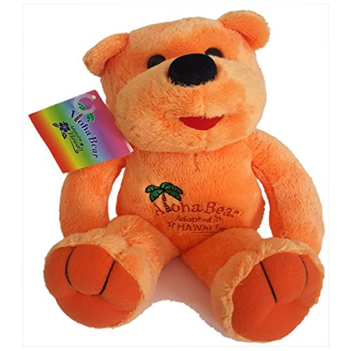 Island Heritage Aloha Bear Adopted in Hawaii Orange Plush 12