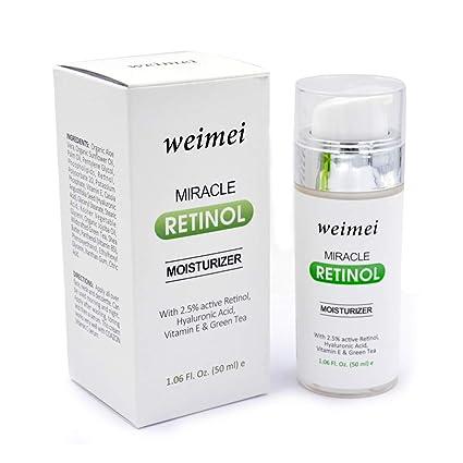 Retinol crema hidratante, cara ojo crema antienvejecimiento con vitamina E, 2,5% retinol para arrugas, líneas finas: Amazon.es: Belleza