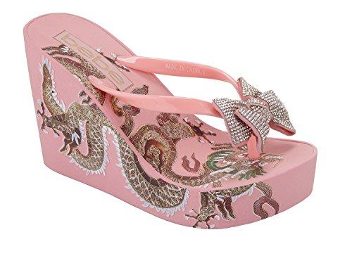 bebe Women's Alaya Flip-Flop, Pink, 6 M US