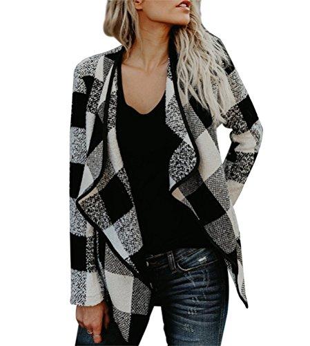 Black & White Plaid Jacket - 1