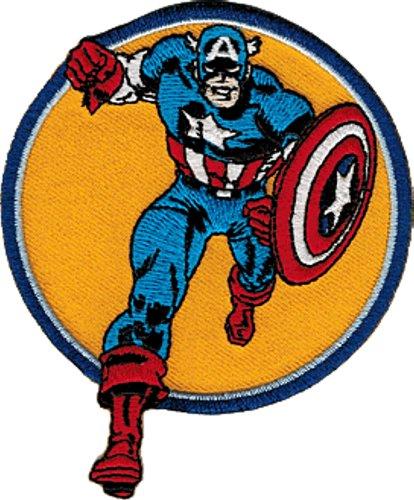 Marvel Comics Captain America Run Iron On Patch P3350