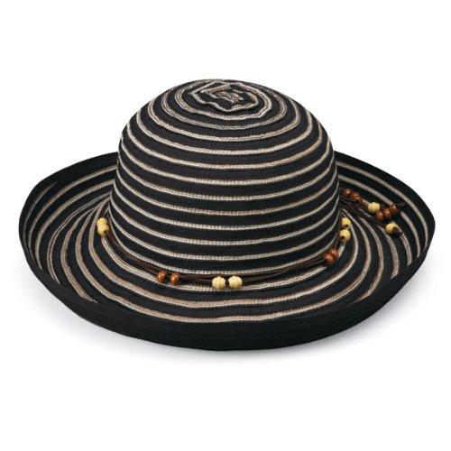 Wallaroo Women's Breton Sun Hat - UPF 50+ - Packable, Black