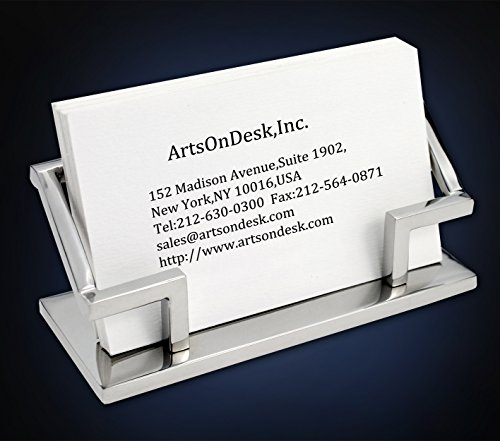 Hands Business Card Holder - ArtsOnDesk Modern Art Business Card Holder Mr101 Stainless Steel Mirror Polish Patented Luxury High-end Desk Accessory Business Card Stand Case Office Organizer Thanksgiving Gift Christmas Gift