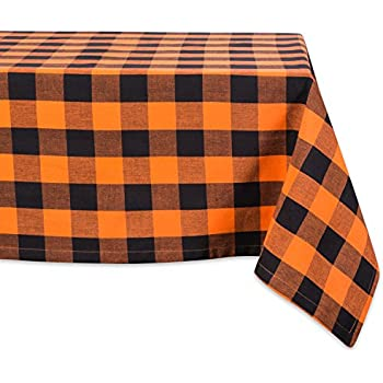 DII Cotton Buffalo Check Plaid Rectangle Tablecloth for Family Dinners or Gatherings, Indoor or Outdoor Parties, & Everyday Use (60x104