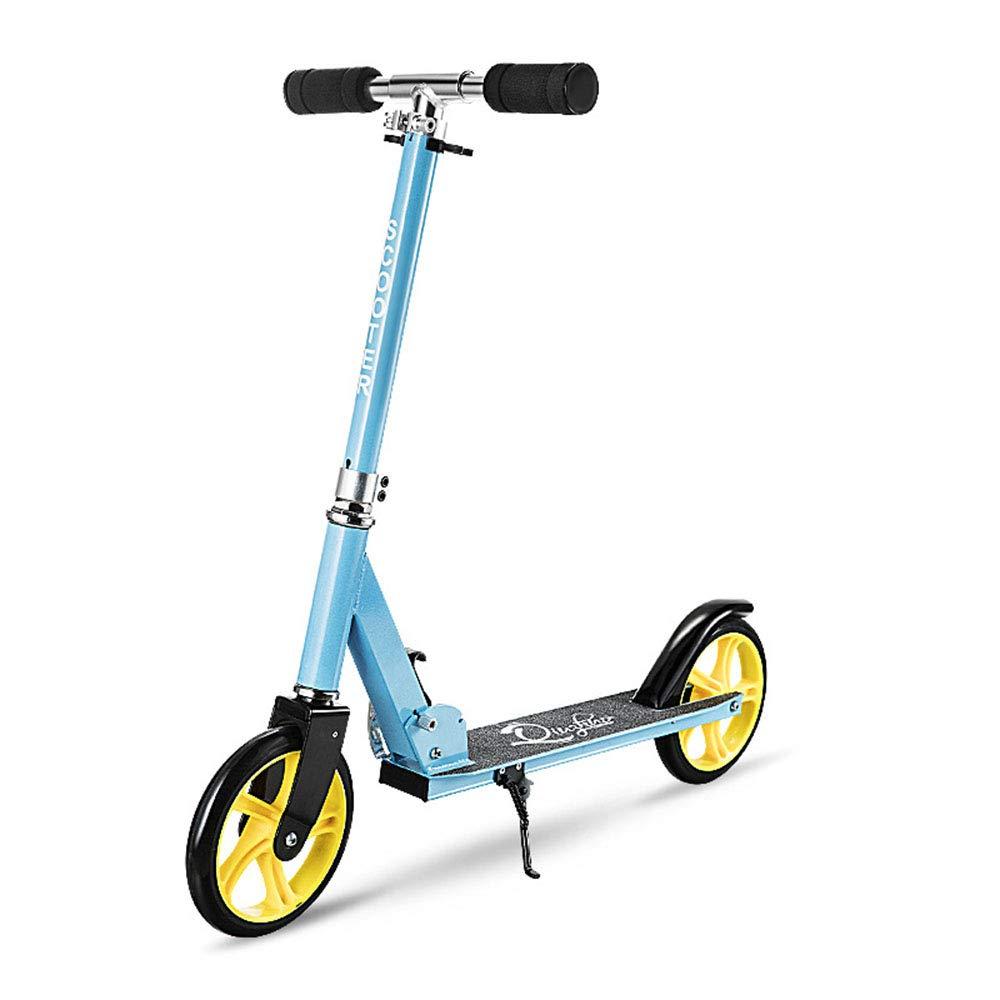 キックスクーター 子供のためのスクーター、2つの車輪調節可能な高さと折り畳みやすいスクーター(赤) 青 青 B07Q415PNW, アドキッチン:1024f455 --- magento.marketcentral.in