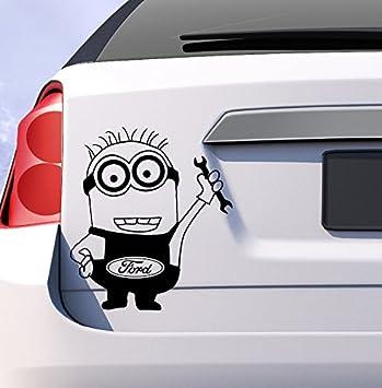 Ford Minion Car Vinyl Sticker Decal Fiesta Mondeo Focus St Uk Funny