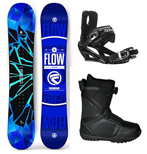 Flow 2018 Burst Men's Complete Snowboard Package Bindings BOA Boots - Board Size 154 (Boot Size 10)