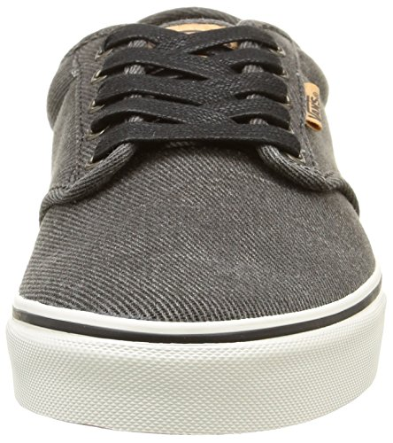 Marshmallow Homme Washed Vans Atwood Deluxe Black Twill Baskets Basses Noir xpqzIYqw