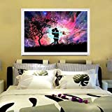 Blxecky 5D DIY Full Diamond Cross Stitch Painting,Living Room Decorative Wall Stickers Wallpaper,Night Sky