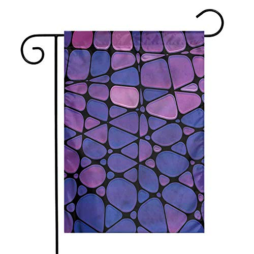 (WinfreyDecor Abstract Garden Flag Stained Glass Mosaic Premium Material 12