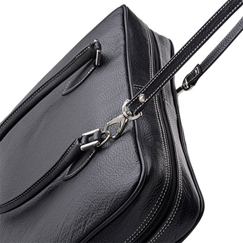In Dudu Made Laptop Italy Woman Two Skin Strap Shoulder Black Cases And Handles wB77xAIRq