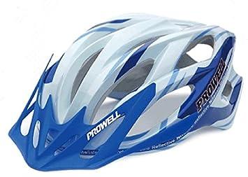 Prowell F55R Phoenix - Casco de Ciclismo Azul y Blanco Talla:L (59 ...