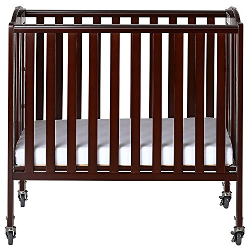 Dream On Me 3-in-1 Folding Portable Crib, Espresso, Large