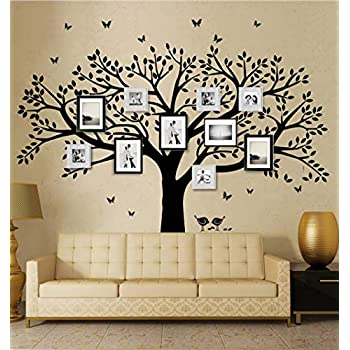 Exceptional ANBER Family Tree Wall Decal Butterflies And Birds Wall Decal Vinyl Wall Art  Photo Frame Tree