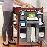 Inditradition Baby Diaper Caddy and Nursery Organizer (Blue)