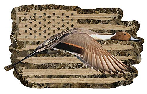 - Firehouse Graphics 3M Reflective American Flag Drake Pintail Duck Hunting Water Fowl Mallard camo Camouflage Vinyl die Cut Sticker Decal (5