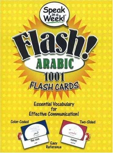 Speak in a Week! Flash! Arabic: 1001 Flash Cards (Arabic and English Edition)