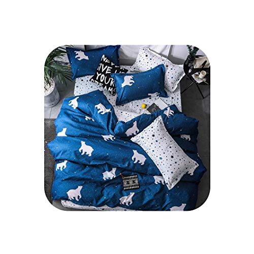 Fashion Bedding Sets Luxury Bed Linen Fashion Simple Style Bedding Set Winter Full King Twin Queen Without Comforter,C6,Full Cover 150by200,Flat bedsheet