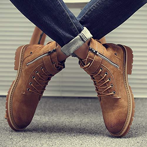 Shukun Herren Stiefel Martin Stiefel Herren Hilfe Studenten Werkzeug Stiefel Retro Kurze Stiefel Hohe Schuhe Vielseitige Cotton Stiefel