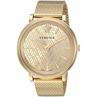 Versace Women's 'The Manifesto Edition' Quartz Stainless-Steel-Plated Casual Watch, Color:Gold-Toned (Model: VBP060017)