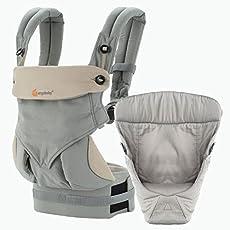 Ergobaby 4 Position 360 Bundle of Joy baby carrier, gris