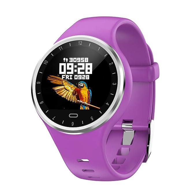 SoloKing Reloj Inteligente Hombre Mujer, Pulsera Actividad con Pulsómetros,Presión Arterial,Monitor de Sueño,Podómetro,Contador de ...