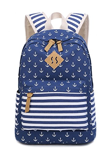 - HAPPYTIMEBELT Double Zipper Anchor Printing Children School Backpack Student Book Bag