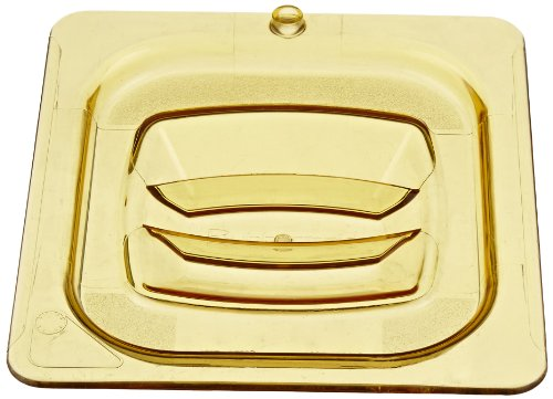 Rubbermaid Commercial Hot Food Pan Cover with Peg Hole, 1/6 Size, Amber, FG208P23AMBR by Rubbermaid Commercial Products