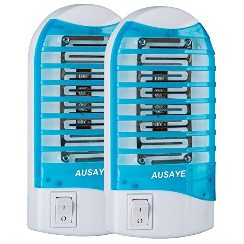 Bug Zapper, AUSAYE Mosquito Killer Lamp,Electronic Insect Killer,Mosquito trap,Eliminates Most Flying Pests,Night Lamp,Killing Mosquitoes Give You a Comfortable Sleep 2 Pack Blue