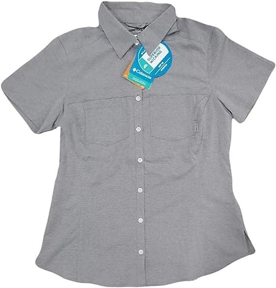 *NEW* Columbia Women/'s Button-Down Shirt Omni-Shade UPF25 Short Sleeve