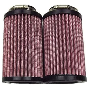 """Fit All Year 38 39 44 mm Carb BANSHEE YFZ350 12/"""" AIR FILTER W//COVER Pair"""